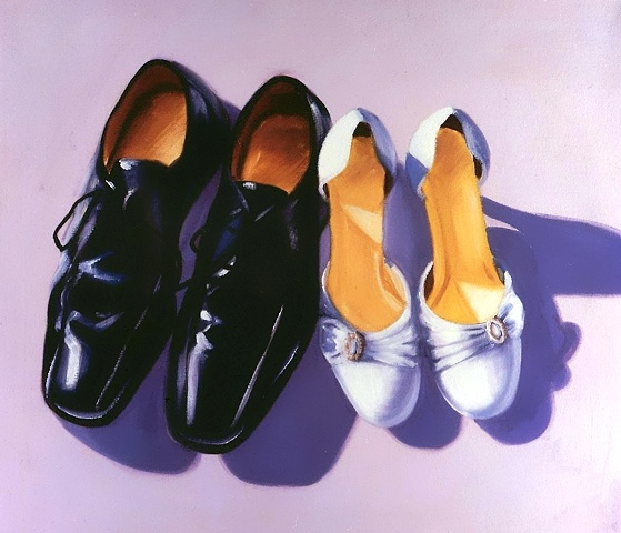 The perfect wedding gift, commission a portrait of the happy couple's wedding shoes.