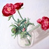 My Favourite Flowers Original Oil Painting by Linda Boucher
