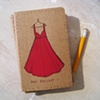 Red Dresses Moleskine Notebook by Linda Boucher