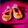Yellow Chinese Slippers by Linda Boucher