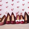 Shoes with Rose Wallpaper Original Oil Painting by Linda Boucher