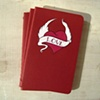 Love Heart Red Moleskine Notebook by Linda Boucher
