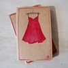 Red Dress Moleskine Notebook by Linda Boucher