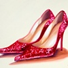 Red Twinkle Toes  by Linda Boucher