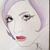 Long Eyelashes  Sketch by Linda Boucher