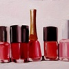 Nail Polish Reds Original Oil Painting by Linda Boucher
