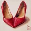 Poppy Red Sparkles by Linda Boucher