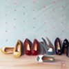 Dolly Mixture Shoes Oil on Canvas by Linda Boucher
