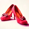 Red Bow Shoes  by Linda Boucher