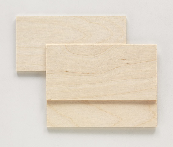 Wood relief by Sara Overton artist abstract minimal