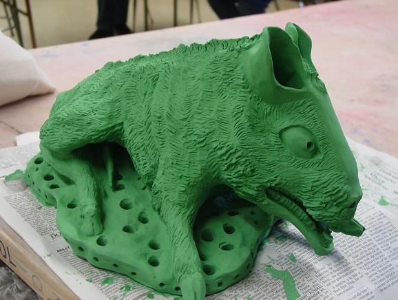 Baby Boar by Carolyn Washington, in progress