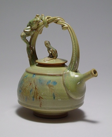 Teapot with two frogs