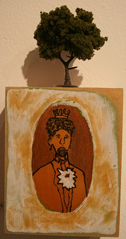 Bearded Lady with Tree