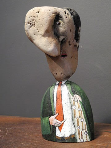 quirky sculptural portraits of country people