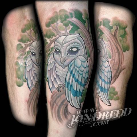 owl tree crucial tattoo studio salisbury maryland delaware jon dredd kellogg tattoos