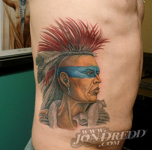 indian mohawk crucial tattoo studio salisbury maryland delaware jon dredd kellogg tattoos