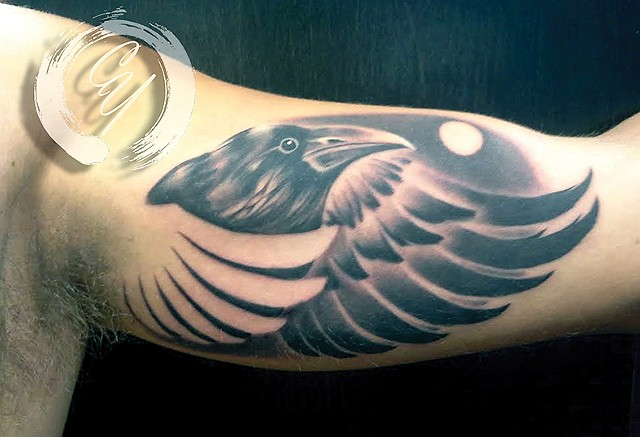cyrus high tattooer crucial tattoo studio ocean city maryland delaware virginia best tattoos raven moon