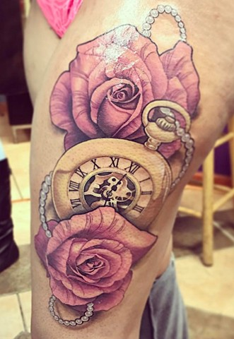 roses and watch