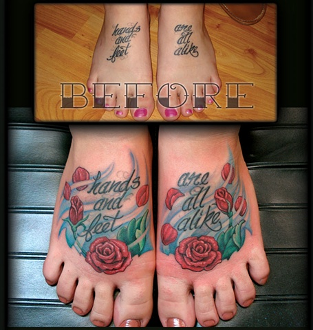 crucial tattoo studio salisbury maryland tattoos cover up foot rose roses