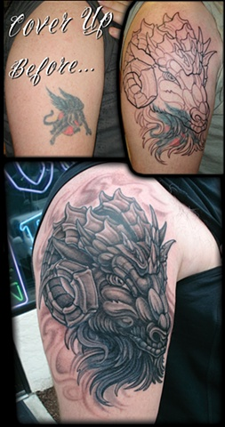 crucial tattoo studio salisbury maryland tattoos cover up goat head jon kellogg