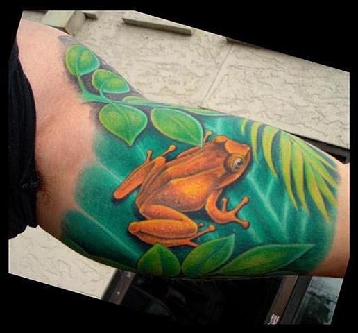 tattoo frog color salisbury maryland