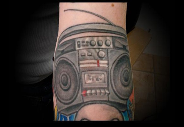tattoo boombox ghetto blaster old school salisbury maryland