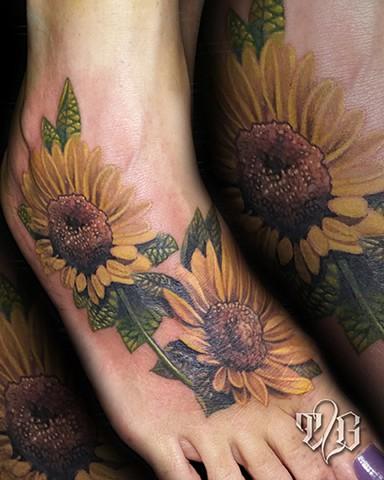 Sunflower foot