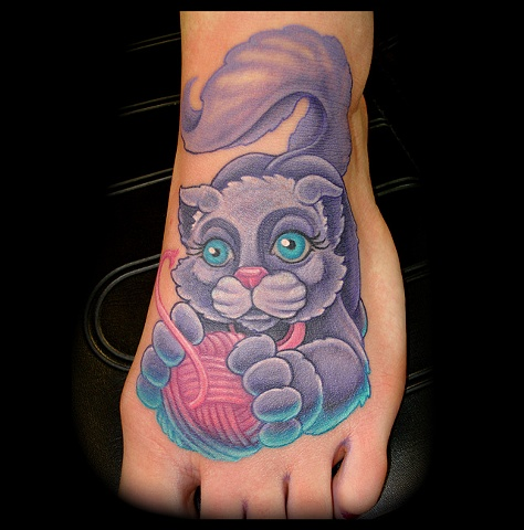 cat kitten tattoo crucial tattoo studio custom tattoos salisbury maryland