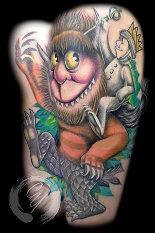 cyrus high tattooer crucial tattoo studio ocean city maryland delaware virginia best tattoos where the wild things are