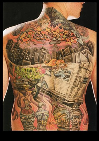 tattoo grafitti overdose train rider tattoos salisbury maryland