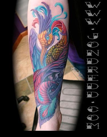 crucial tattoo studio salisbury maryland tattoos color phoenix bird