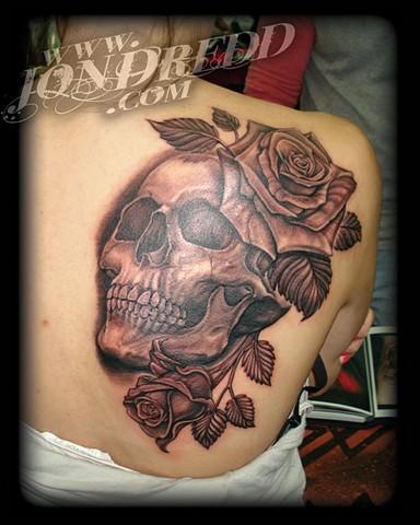skull roses crucial tattoo studio salisbury maryland delaware jon dredd kellogg tattoos
