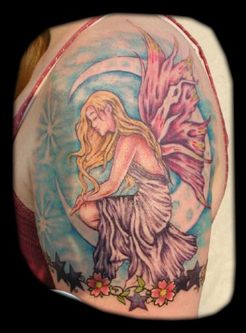 tattoo farie fairy faerie  tattoos salisbury maryland crucial tattoo studio