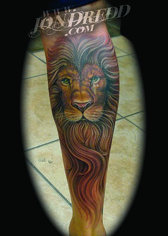 lion face crucial tattoo studio salisbury maryland delaware jon dredd kellogg tattoos