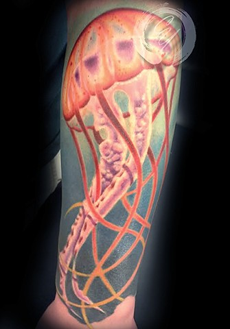 cyrus high tattooer crucial tattoo studio ocean city maryland delaware virginia best tattoos jellyfish