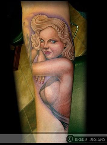 tattoo Vargas pin up girl tattoos sheer dress salisbury maryland