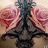 rose lace back