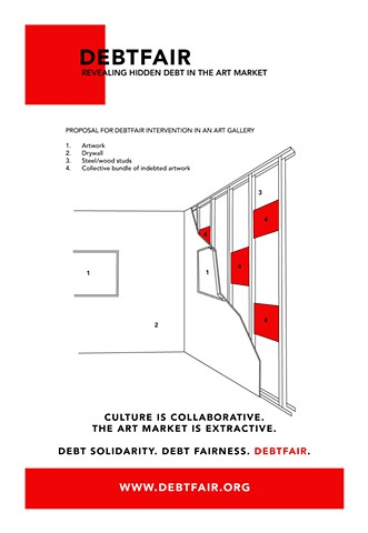 Debtfair Handout, Momenta Art (front cover) Proposal for installation in gallery