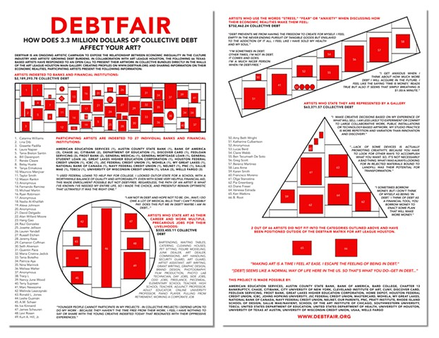 Debtfair @ Art League Houston Info sheet