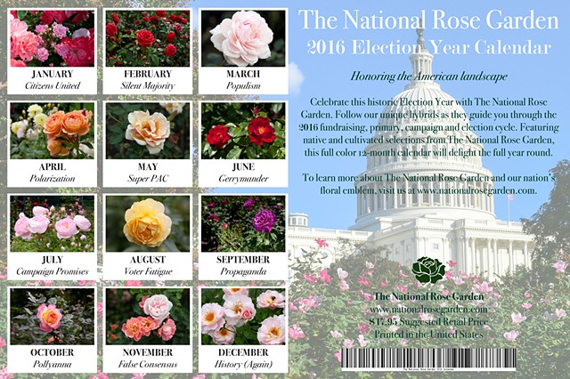 2016 National Rose Garden Election Year Calendar (detail)