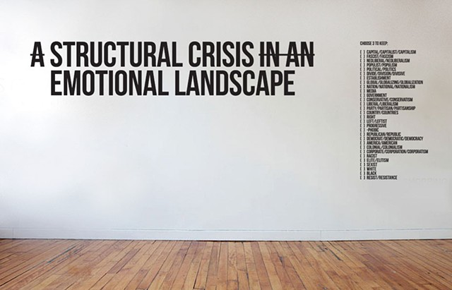 A STRUCTURAL CRISIS IN AN EMOTIONAL LANDSCAPE