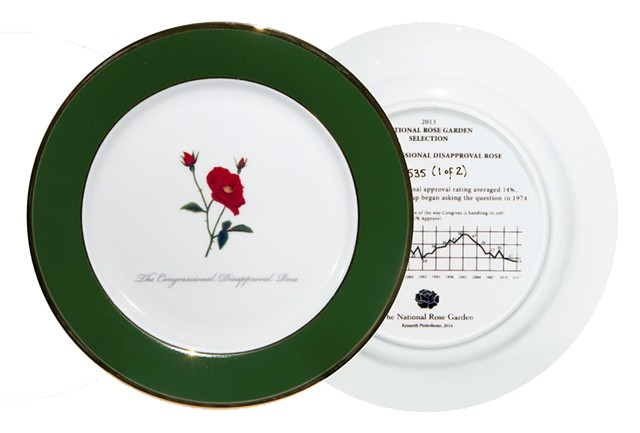 Congressional Disapproval Rose Commemorative Plate