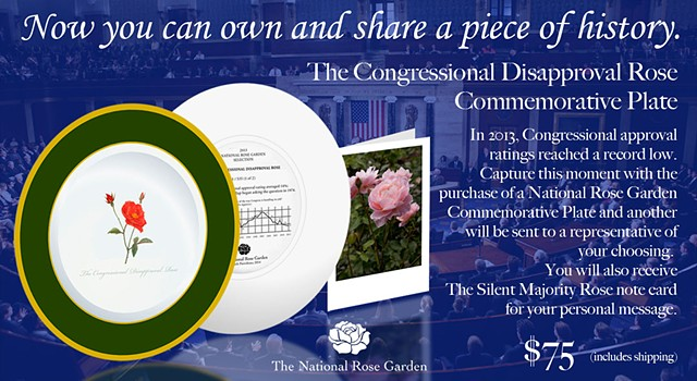 The Congressional Disapproval Rose Commemorative Plate Advertisement