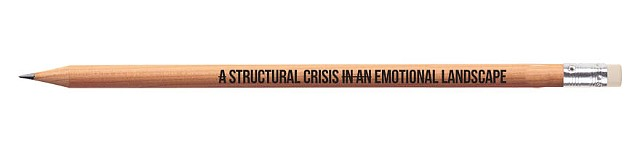 A Structural Crisis In An Emotional Landscape Pencil