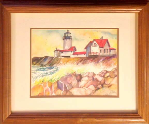 Commissioned Painting of a light house by Mike Grant