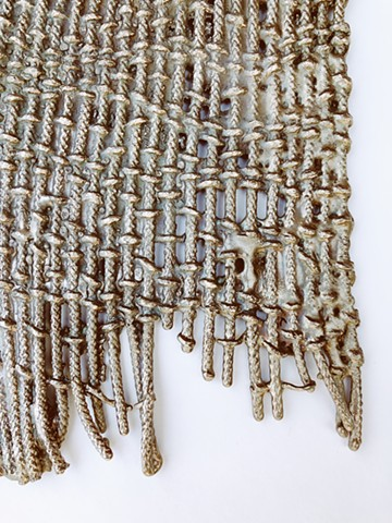 Handwoven, bronze, patina
