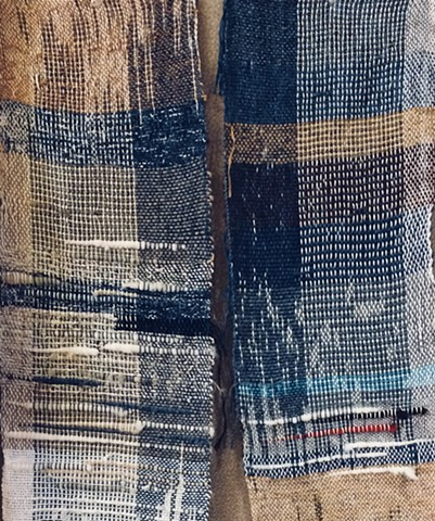 Indigo Weaving - Completed on a Rigid Heddle Loom