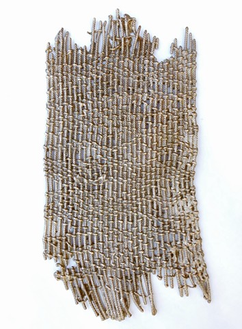 Handwoven, bronze, patina, Stephany Latham