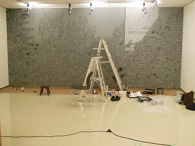 Untitled in progress, Owens Art Gallery, 2014