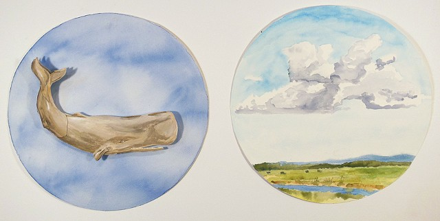 Untitled (whale & cloud)